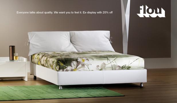 flou nathalie bed ex display with 20 off abitalia. Black Bedroom Furniture Sets. Home Design Ideas